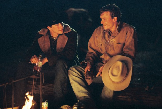 Jack and Ennis get closer around the campfire