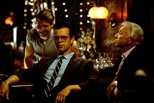 William H. Macy (centre) as Quiz Kid Donnie Smith