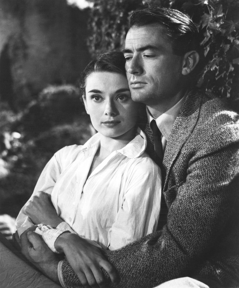 Romantic leading man with Audrey Hepburn in Roman Holiday