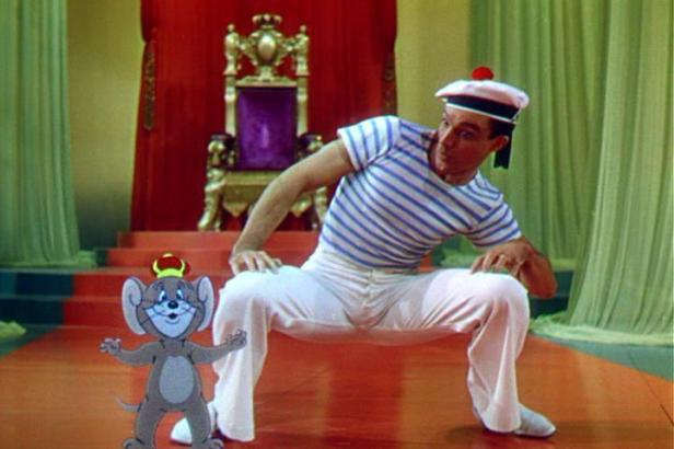 Gene Kelly dancing with Jerry the mouse in Anchors Aweigh (1945)