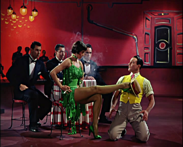 Dancing with Cyd Charisse and her legs in the 'Broadway Rhythm' sequence