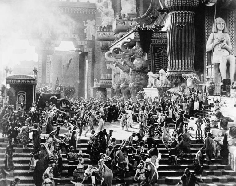 One of the epic scenes in DW Griffith's Intolerance