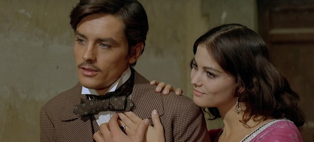 With beautiful Claudia Cardinale in Visconti's epic Il Gattopardo