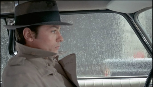 Delon as Jef Costello in Le Samourai
