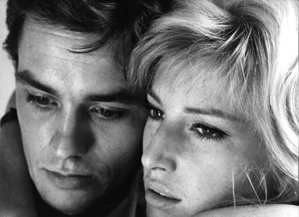 With the lovely Monica Vitti in Antonioni's L'Eclisse