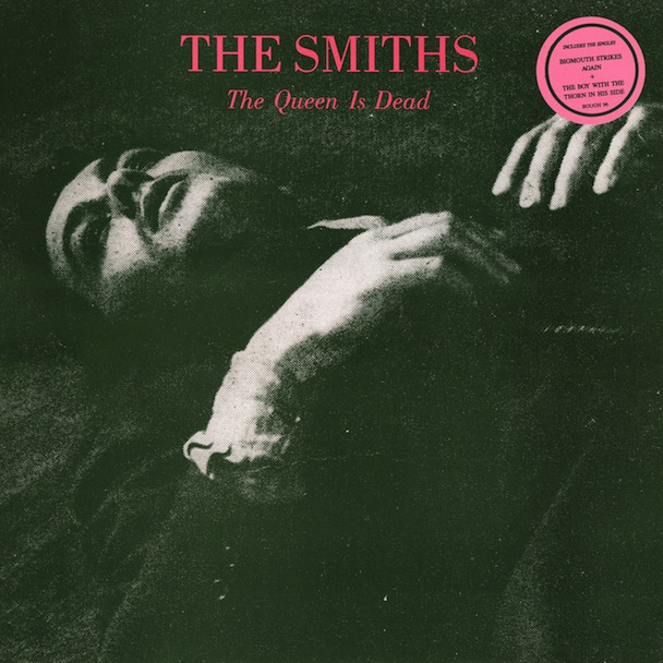 Delon as the cover star of the Smiths album The Queen is Dead