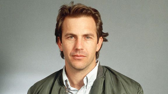 Costner as he appeared in Bull Durham and in the poster in my bedroom
