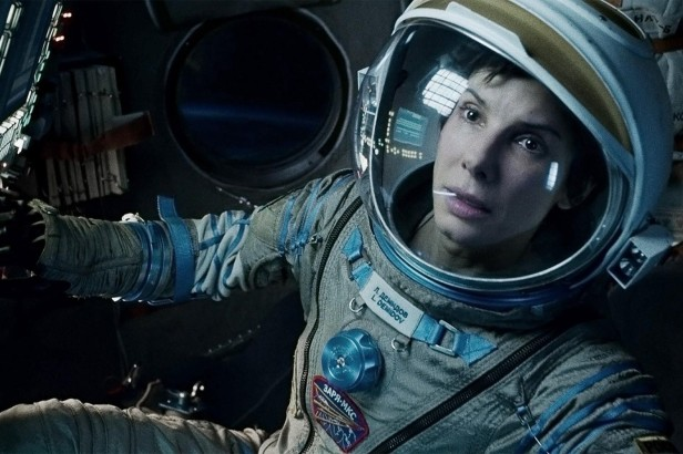 Sandra Bullock in Gravity - an actress I struggle to connect with