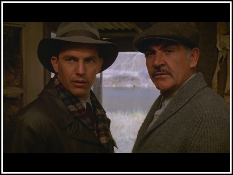 Costner as Eliot Ness in The Untouchables with Sean Connery
