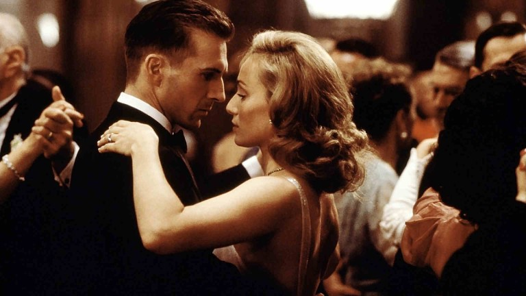 Almasy (Fiennes) and Katherine (Kristin Scott Thomas) dance