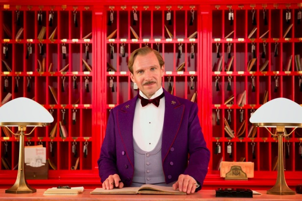 Fiennes as M. Gustave H welcomes you to The Grand Budapest Hotel