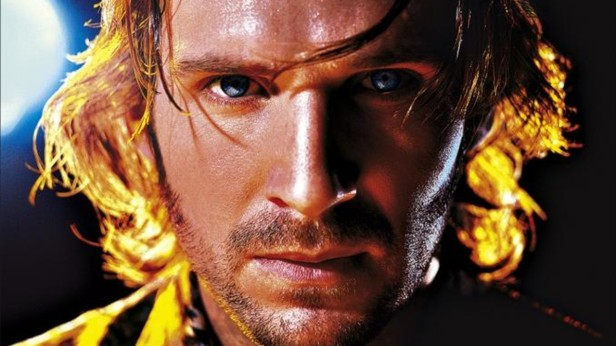 Fiennes as he appeared on the poster for Strange Days