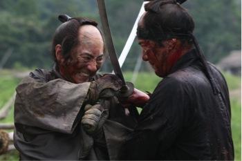 Hanbei and Shinzaemon face off