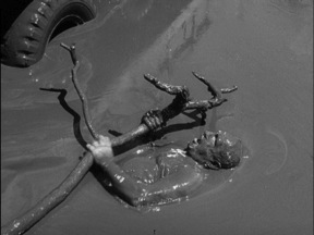 One of many extraordinary scenes in The Wages of Fear