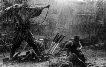 The legendary battle scene shot in the rain