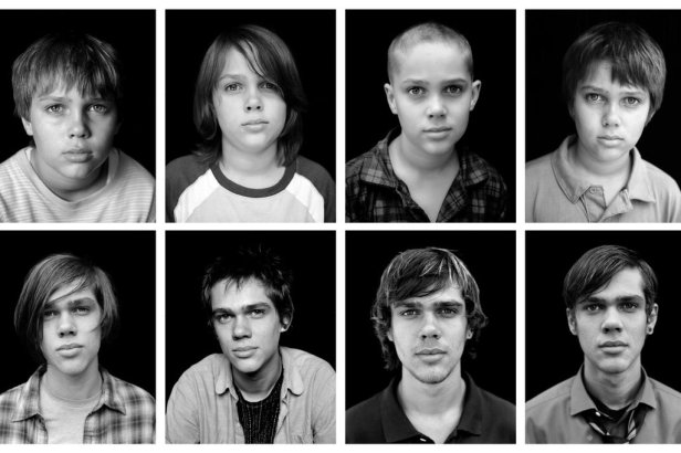 The boy in question - Ellar Coltrane - seized by the frame over 12 years