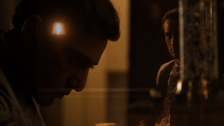 An example of the brilliant dissolves in The Godfather: Part II as we move from Michael's story to  Vito's