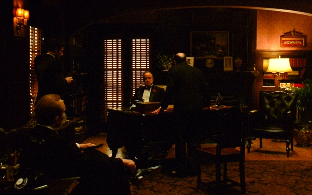 The Godfather's opening scene had deliberately low lighting