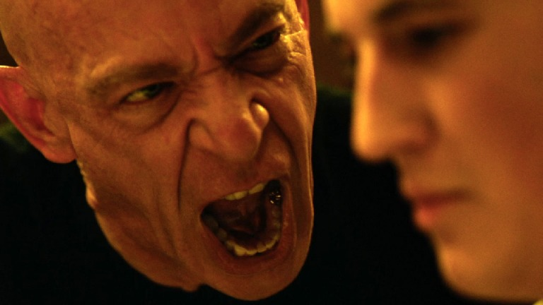 J.K. Simmons as Fletcher is ferociously physical and quite frightening at times