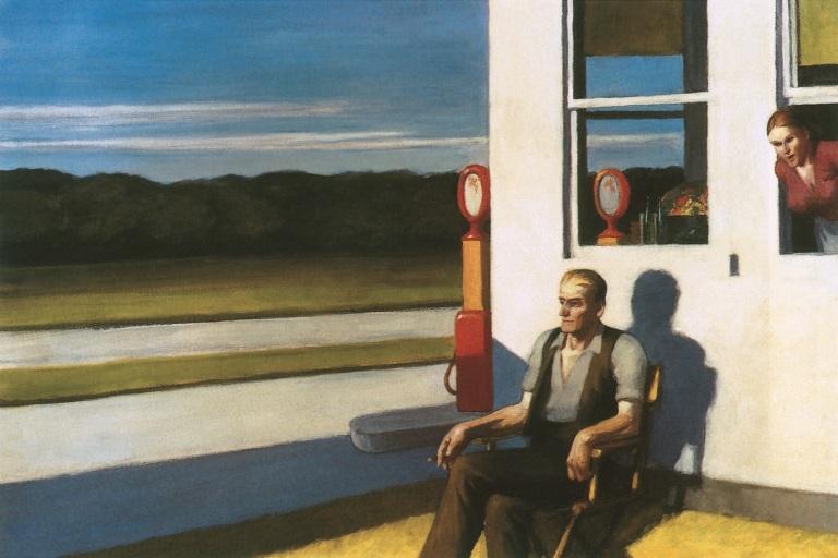 Four Lane Road – Edward Hopper, 1956
