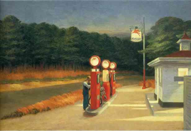 Gas - Edward Hopper, 1940