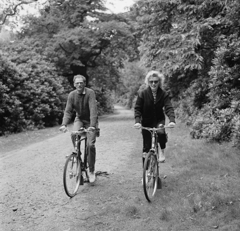 Marilyn and Arthur bike ride