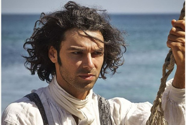 Aidan Turner plays Ross Poldark with sexy, smouldering perfection