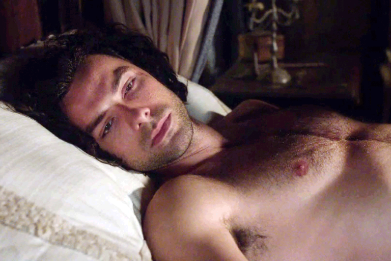 Ross Poldark in bed - the male body in passive recline