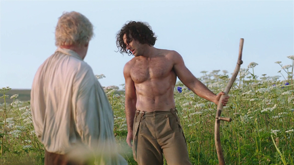 Poldark undressed and scything in the scene that nearly broke the internet