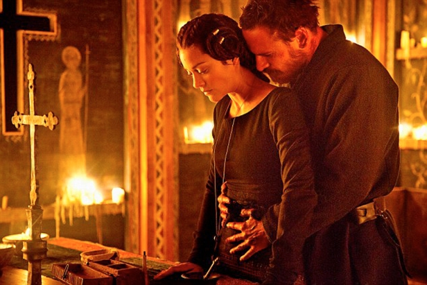 Macbeth (Michael Fassbender) and Lady Macbeth (Marion Cotillard) are joined together in grief